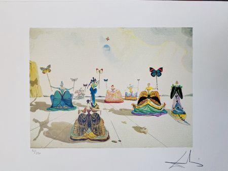 Lithograph Dali - Le donne con le farfalle