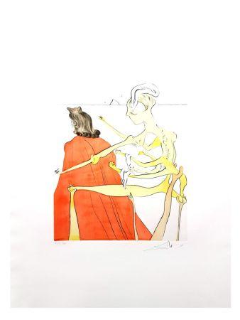 Lithograph Dali - Le Dos Divin de Gala