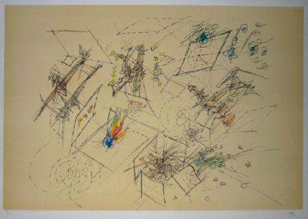 Lithograph Matta - Le doute des trois mondes