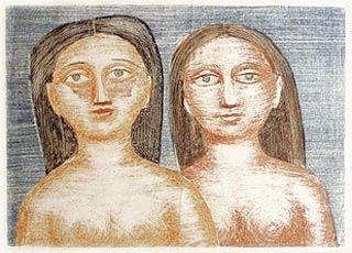 Lithograph Campigli - Le due Sorelle