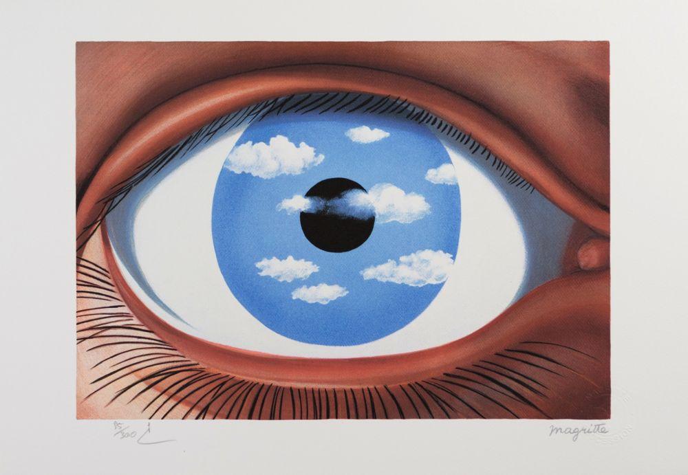 Lithograph Magritte - Le Faux Miroir (The False Mirror)