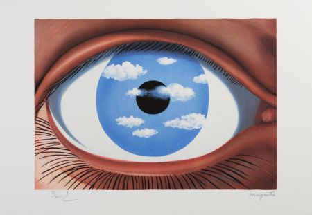 Lithograph Magritte - Le Faux Miroir (The False Mirror)