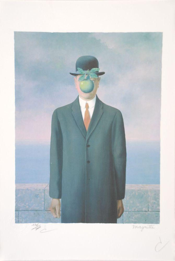 Lithograph Magritte - Le Fils de l'Homme - The Son of Man