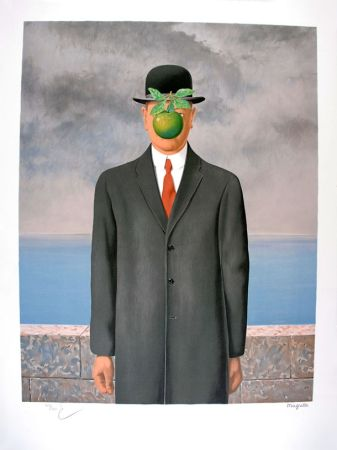 Lithograph Magritte - Le Fils De L'Homme - The Son Of Man