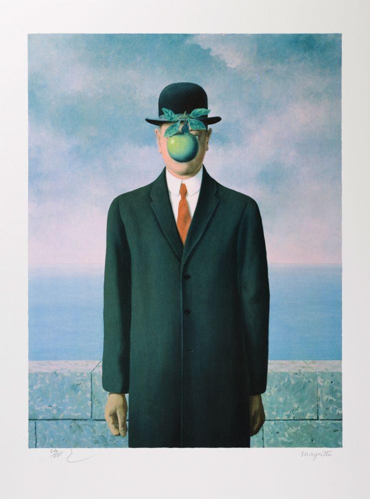 Lithograph Magritte - Le Fils de l'Homme (The Son of Man)