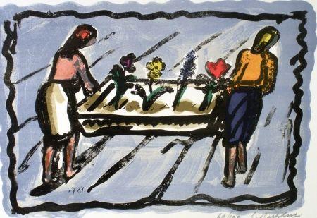 Lithograph Bartolini - Le fioraie