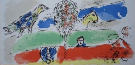 Lithograph Chagall - Le fleuve vert