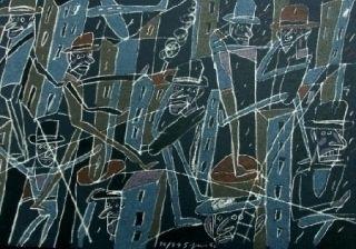 Lithograph Segui - Le froid bleu des contre-nuits
