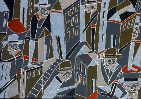 Lithograph Segui - Le froid bleu des contre nuits 1