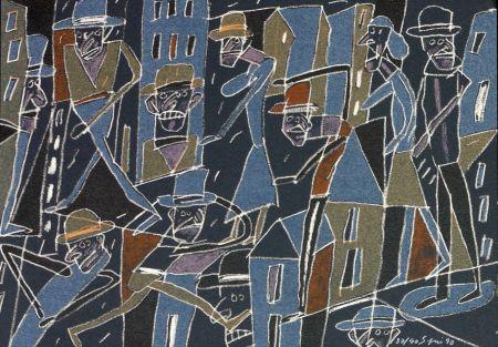 Lithograph Segui - Le froid bleu des contre nuits 2