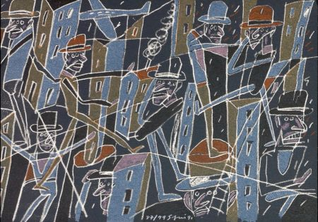 Lithograph Segui - Le froid bleu des contre nuits 6