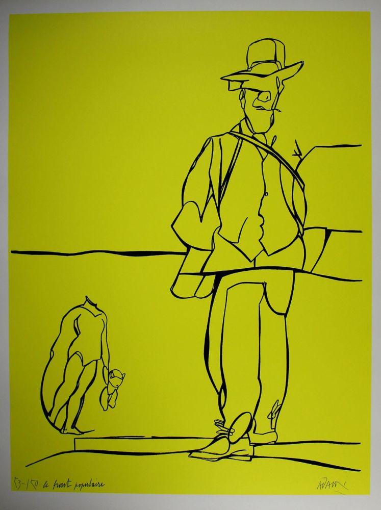 Lithograph Adami - Le front populaire