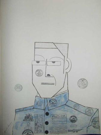 Lithograph Steinberg - Le Général