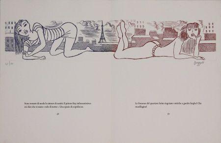 Engraving Buzzati - Le gambe di Saint Germain