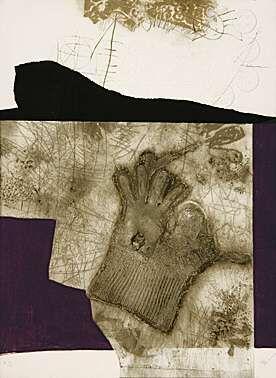 Aquatint Clavé - Le gant de New York