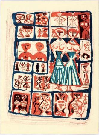 Lithograph Campigli - Le gemelle