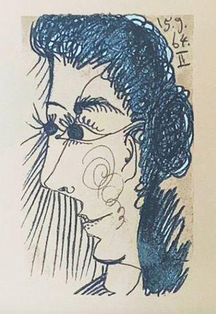 Lithograph Picasso (After) - Le Goût du Bonheur - Femme de profil (1964)