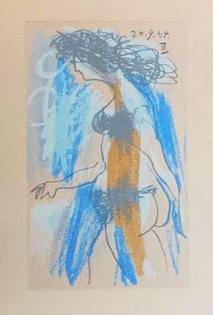 Lithograph Picasso (After) - Le Goût du Bonheur - Nu féminin debout (1964)