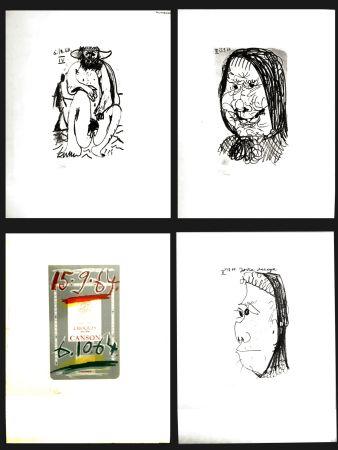 Lithograph Picasso - LE GOUT DU BONHEUR (4 PIECES)