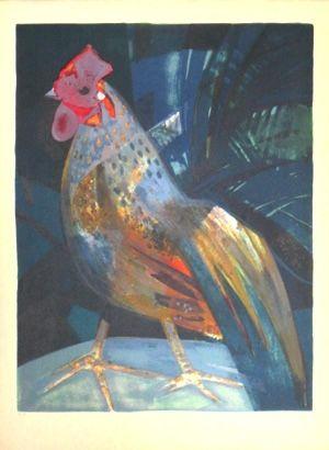 Lithograph Hilaire - Le grand coq