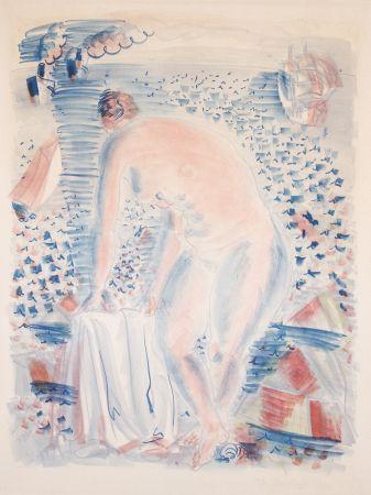 Lithograph Dufy -  Le grande Baigneuse (The large Bather)