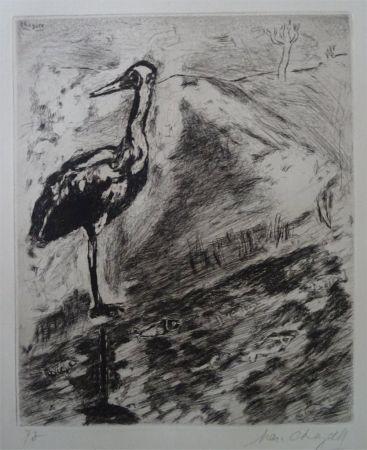 Engraving Chagall - Le Heron