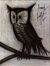 Lithograph Buffet - Le hibou
