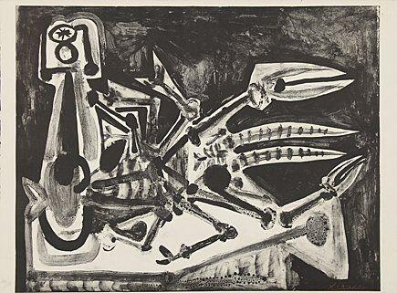 Lithograph Picasso - Le homard (Der Hummer)