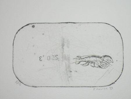 Engraving Favier - Le homard (série des mousselines)