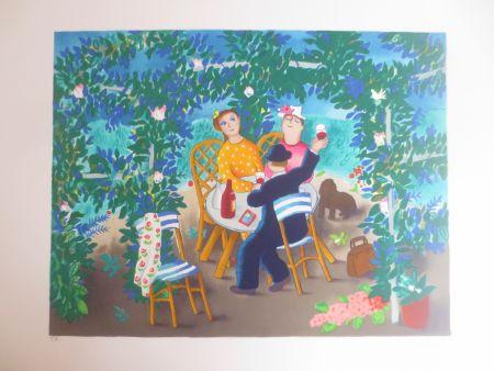 Lithograph Jirlow - Le jardin