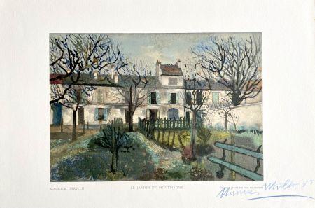 Woodcut Utrillo - Le Jardin de Montmagny