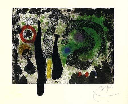 Aquatint Miró -  Le Jardin de Mousse (1968)