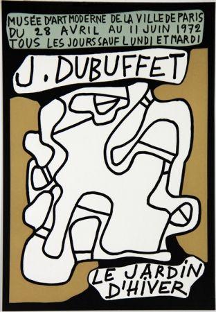 Lithograph Dubuffet - Le Jardin D'Hiver Musee d'Art Moderne de Paris