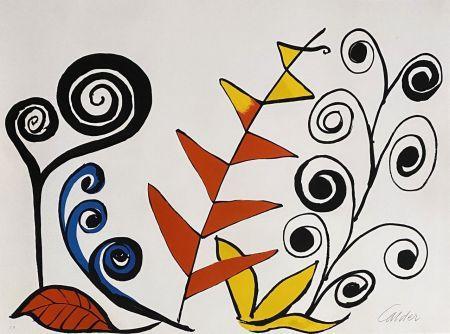 Lithograph Calder - Le jardin fantastique