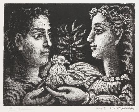 Lithograph Picasso - Le Jeneusse