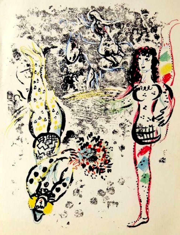 Lithograph Chagall - Le Jeu des Acrobates