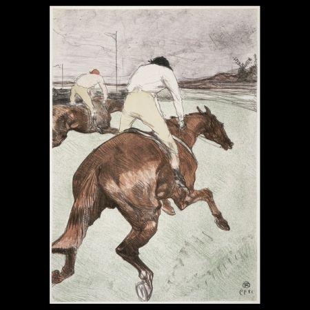 Lithograph Toulouse-Lautrec - Le jockey