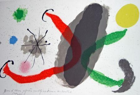 Lithograph Miró - Le lézard aux plumes d'or