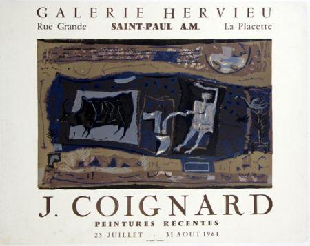 Lithograph Coignard - Le Laboureur Galerie Hervieu Saint Paul