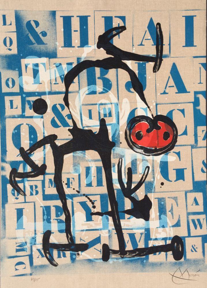 Lithograph Miró - Le Lettre - Rouge