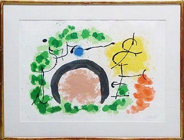 Lithograph Miró - Le Lezard aux Plumes D'Or