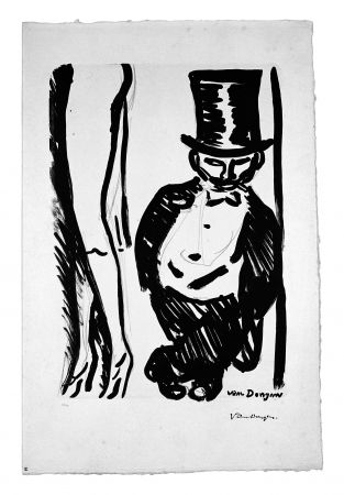 Lithograph Van Dongen - Le Lorgneur (Henri Toulouse Lautrec)