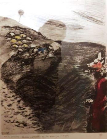 Engraving Chagall - Le loup devenu berger