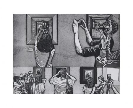Etching And Aquatint Collin - Le Louvre salle 38 - Vermeer