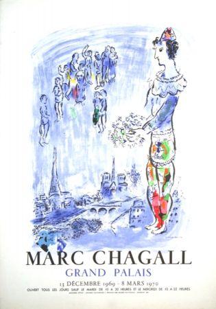 Lithograph Chagall - Le Magicien