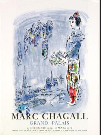 Lithograph Chagall - LE MAGICIEN DE PARIS