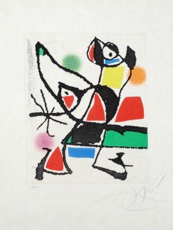 Etching And Aquatint Miró - Le marteau sans maître