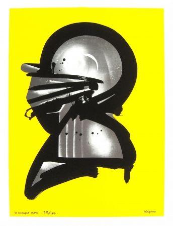 Lithograph Kijno - Le masque noir