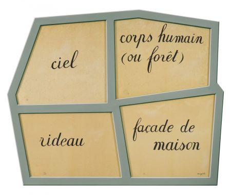 Lithograph Magritte - Le Masque Vide