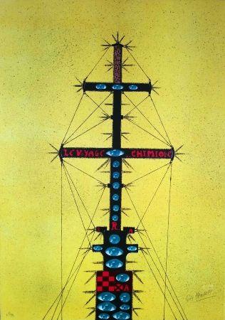 Lithograph Harloff - Le mat de bateau